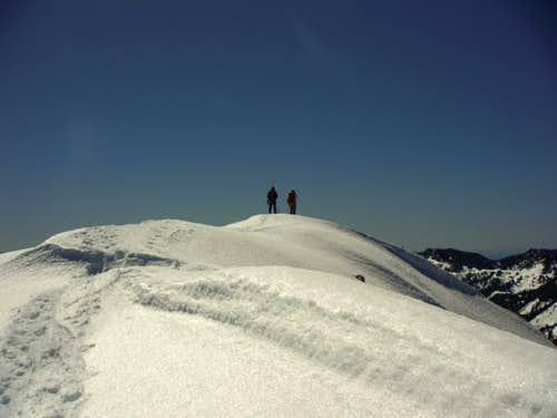 Standing on the false summit