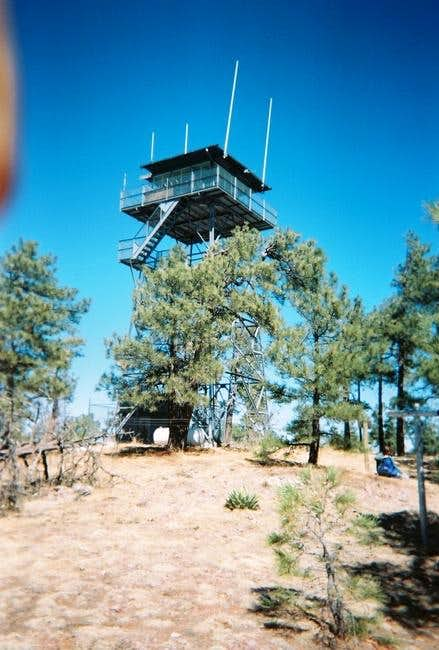 The fire lookout atop Aztec...