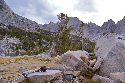 Kearsarge Pinnacles from the camp