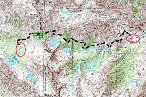 Topo of the trip's route