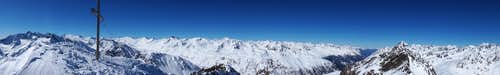 Wurmkogel (3082m) Summit Panorama