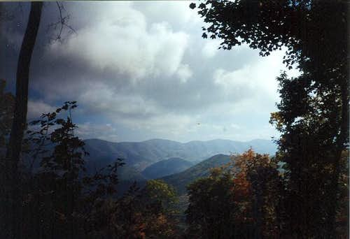 Picture going up Spruce Knob...