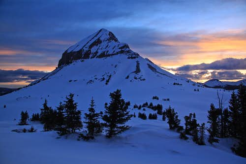 Sunset over Engineer Mountain