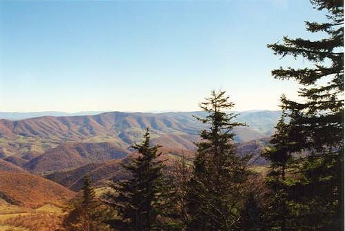 View from the summit trail of...