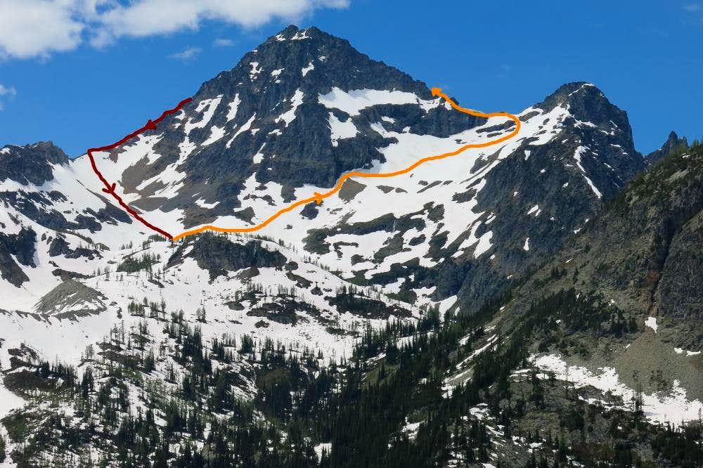 Black Peak Route up NE Ridge and down S Ridge