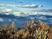Fumarole of nevado Del Ruiz