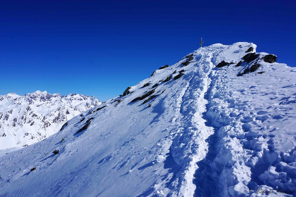 Almost there; Getting close to the summit of Wurmkogel (3082m)