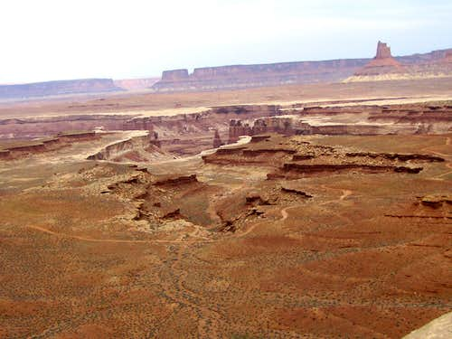 White Rimmed Canyons and Candlestick Tower