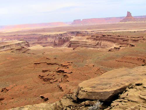 Candlestick Tower and white rimmed canyons