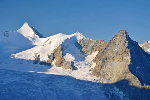 Obergabelhorn, Blanc de Moming and Besso