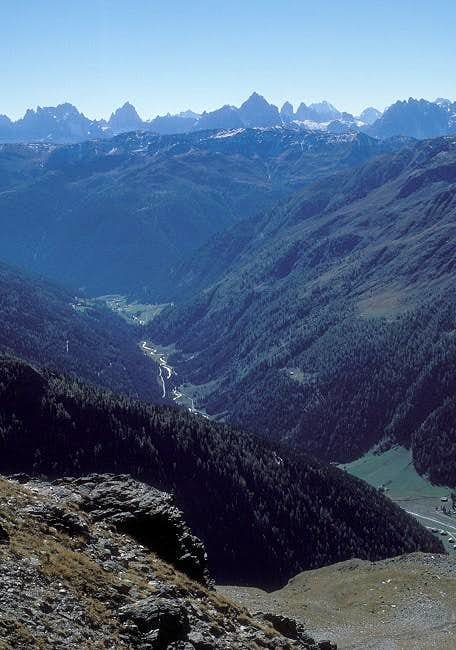 Villgraten valley seen from...