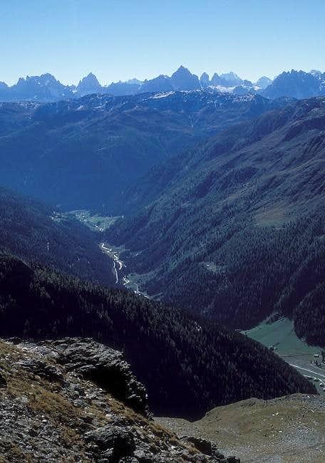 Villgraten valley seen from...