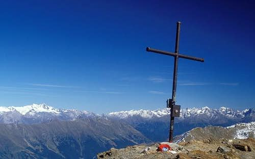 summit cross of Rote Spitze...