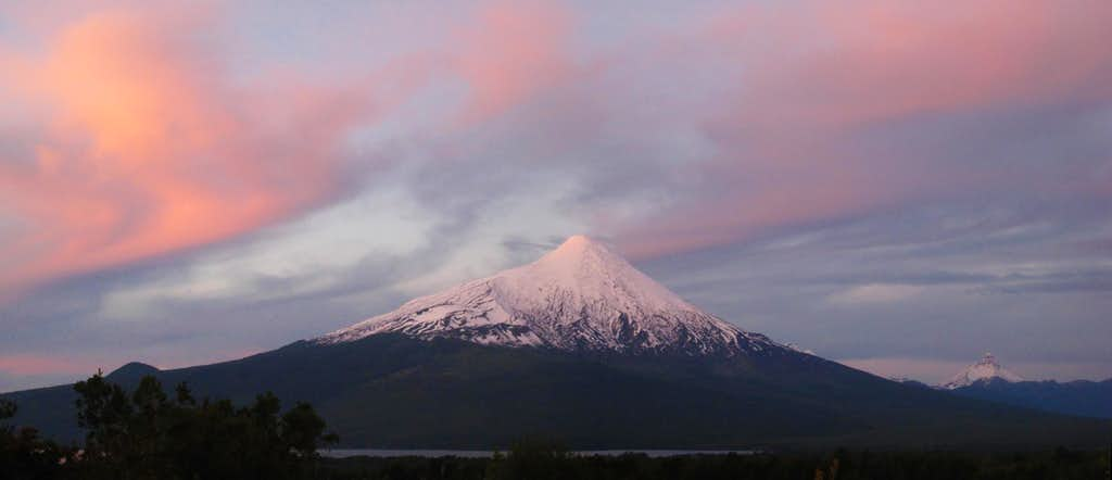 Sunset on Osorno
