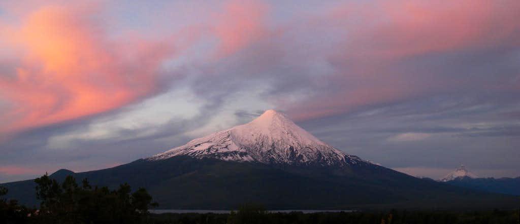 Sunset on Osorno