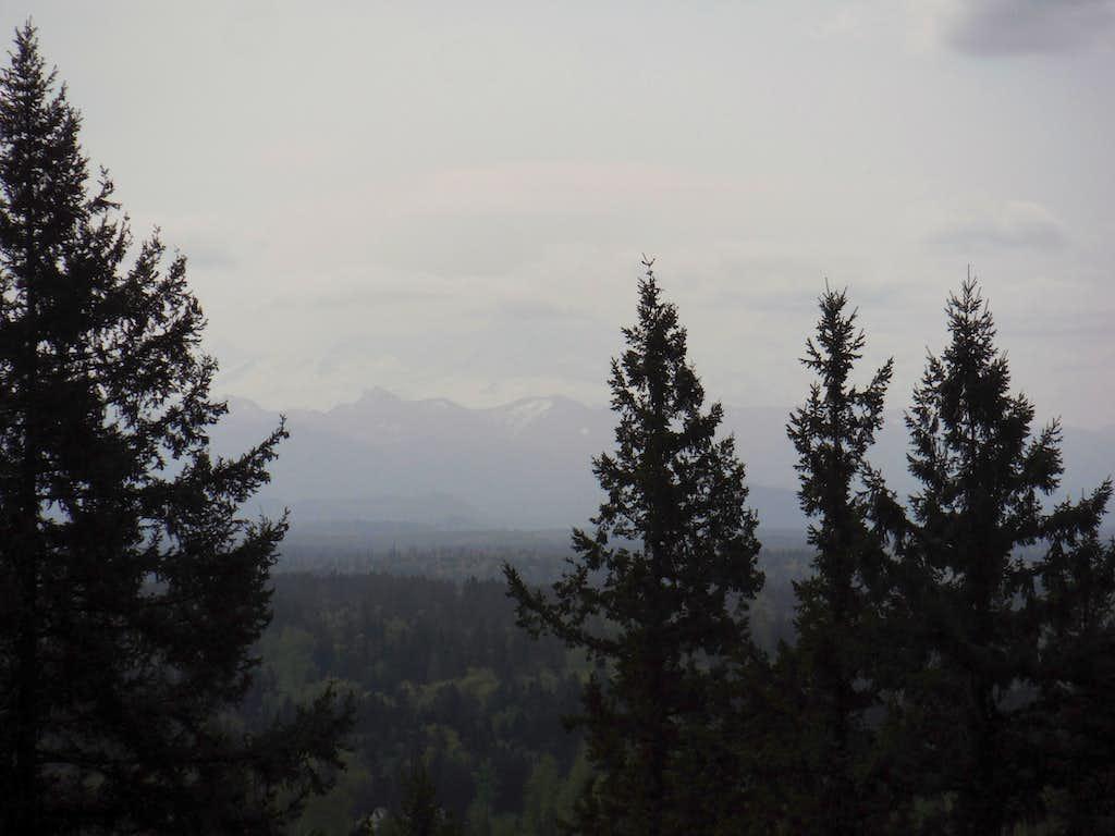 Rainier is still hiding in the clouds