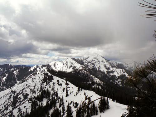 Looking at Miller Peak from Iron Mountain