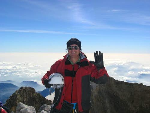 At Orizaba\'s summit, basking...