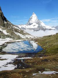 Dwarfed by the Matterhorn