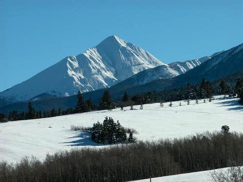 Horn Peak's north face. Photo...