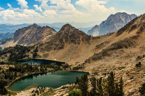 Castle Peak from Lonesome Lake
