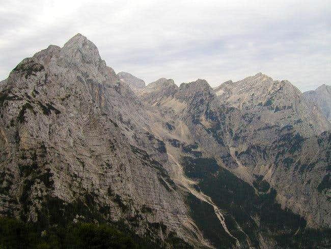 From the left: Rjavina ridge,...