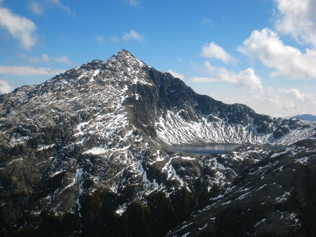Unnamed Peak and lake