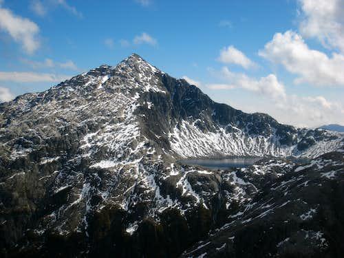 Unnamed Peak and lake