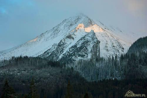 Havran peak at sunset