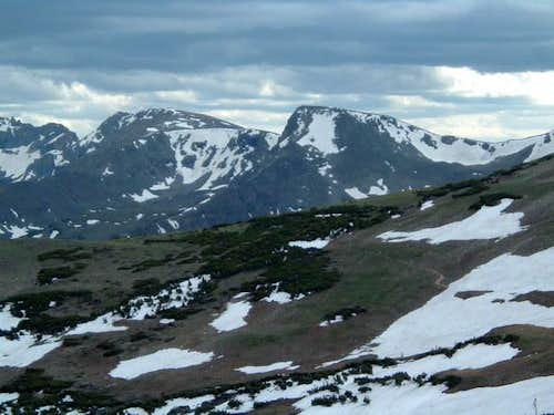 Looking south at Indian Peaks...