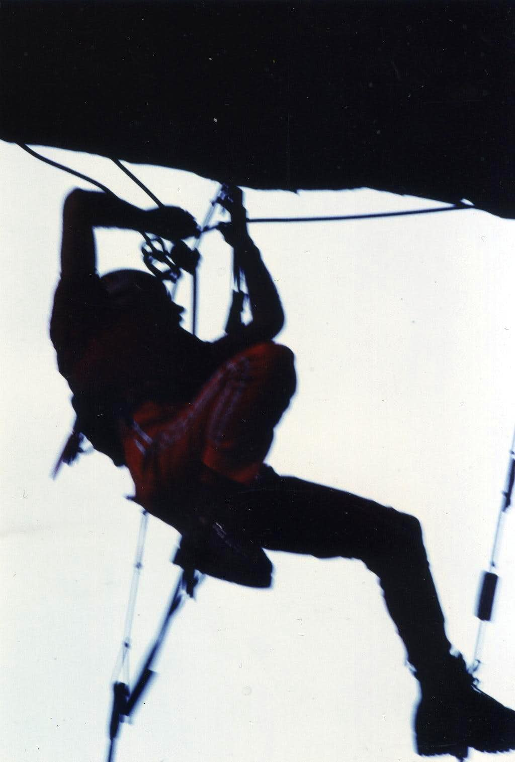 Climbing/3 Great Cliff by an only & sole old rope 1978
