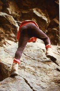 Old Climbing/3 Chenaux  Free below great Cliff 1978