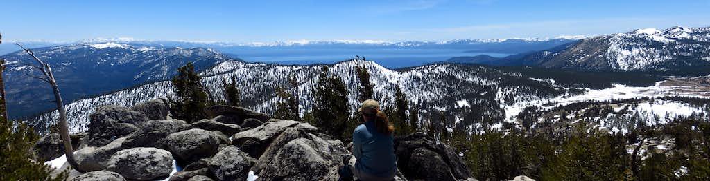 Tahoe Basin from Slide Mtn.