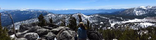Tahoe Basin from Slide Mtn.