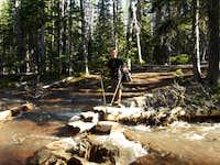 Green Lakes Trail Crossing Soap Creek