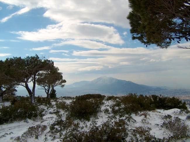 Imittós seen from Mt Penteli....