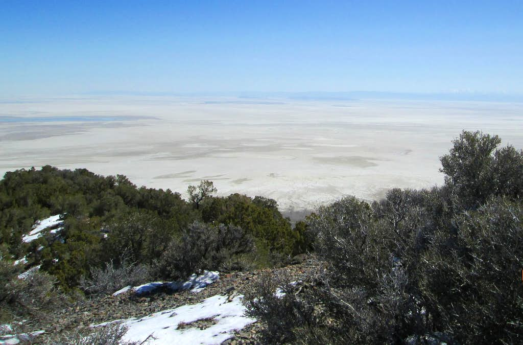 View of the Salt Flats from Dutch Mountain