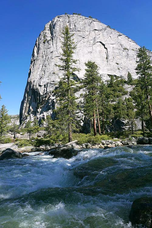 Liberty Cap southeast face from across Merced River