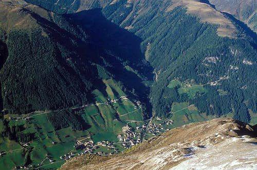 looking down from Langschneid...