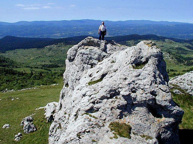 Milanja summit rock.