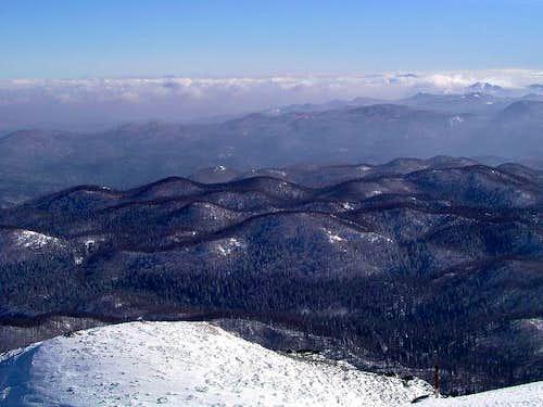 Sneznik summit and Gorski kotar region behind (by courtesy of Vid Pogachnik)
