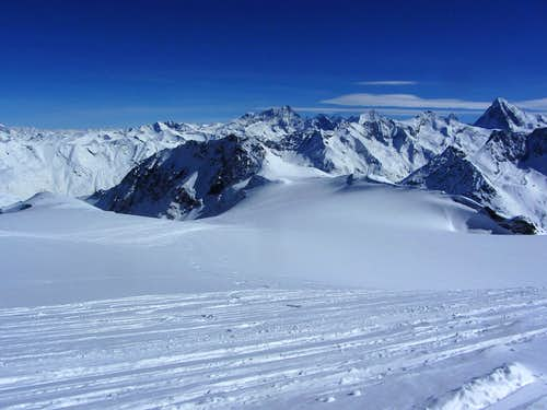 Mont de l'Etoile (3370m) from high on Pointe de Vouasson