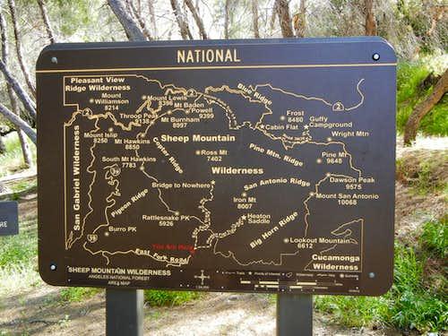 Trail Sign East Fork