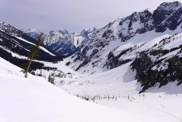 Dark Peak, First Ski Descent