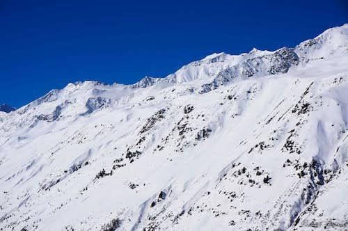 Grosser Ramolkogel (3550m) as seen from Hochgurgl