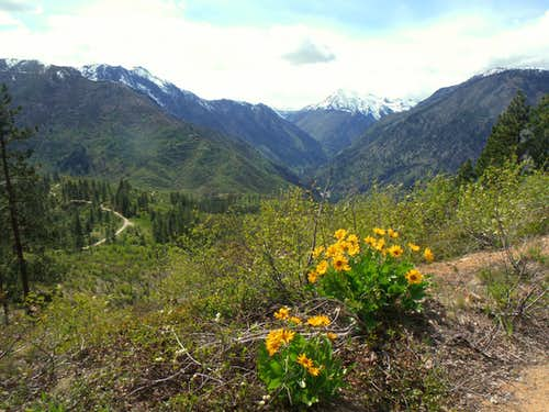 Staring into the Icicle Creek Valley