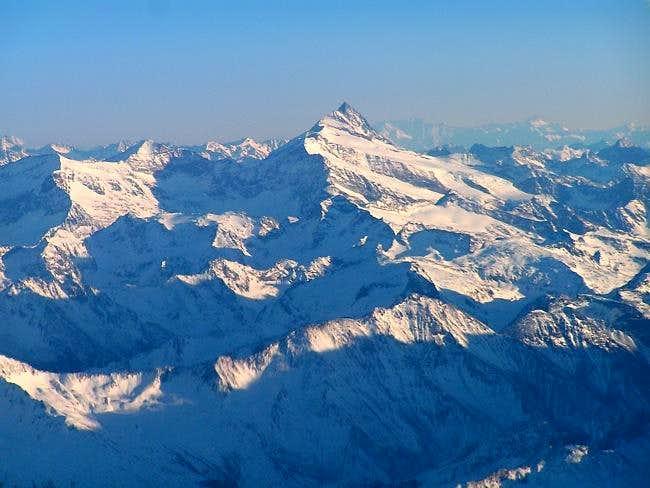Aerial view of Grossglockner...