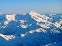 Aerial view of Grossglockner...
