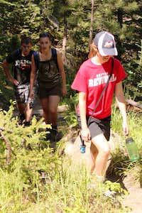 Steeper segment on Trail #9
