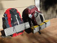Our packs, all packed